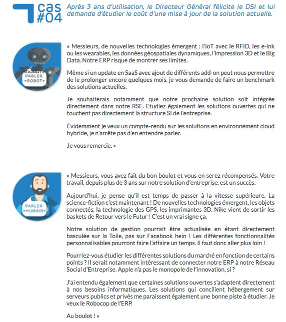 Guide du Parler Humain - Directeur Général explique la mise à jour de son ERP